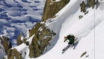 photo: Jordan Manley; skier Kip Garre at Chamonix, France