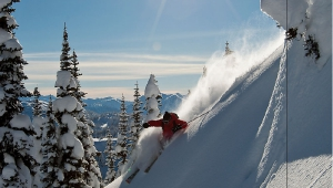 Skier: Jay Reynolds *Photographed by: Paul Morrison * snow: Backcountry Snowcats