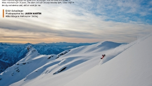 skier: Erich Schadinger * Photographed by: Jason Martin * snow: Mike Wiegele Helicopter Skiing