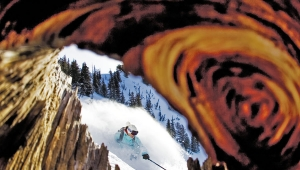 photo: Steve Lloyd; skier: Kelly Holland; snow: Alta, UT