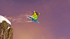 photo: Daniel Ronnback; skier: Christian Bjork; snow: Riksgransen, Sweden
