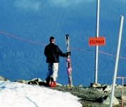 Resting skiier