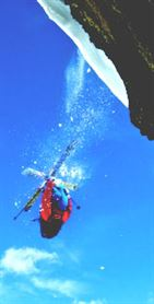 Skier backflip