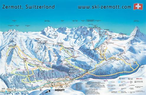 Map of Zermatt