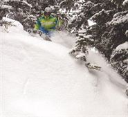Air 1, ski the line, photo by Gillian Morgan