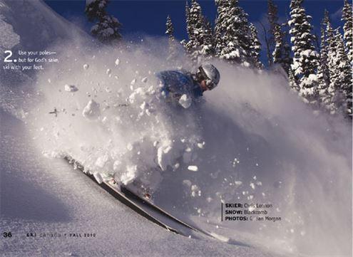 Ski with feet, photo by Gillian Morgan