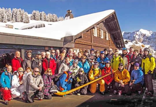 Ski Canada mag readers' trip to Switzerland was another great success judging by these happy campers. photo: MARTY MCLENNAN