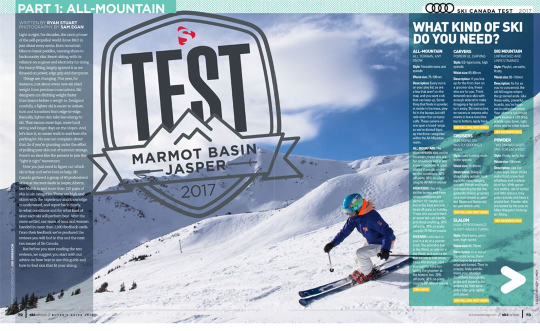 test 2017 intro ski canada magazine rh skicanadamag com ski magazine buyers guide 2018 ski magazine buyers guide 2015