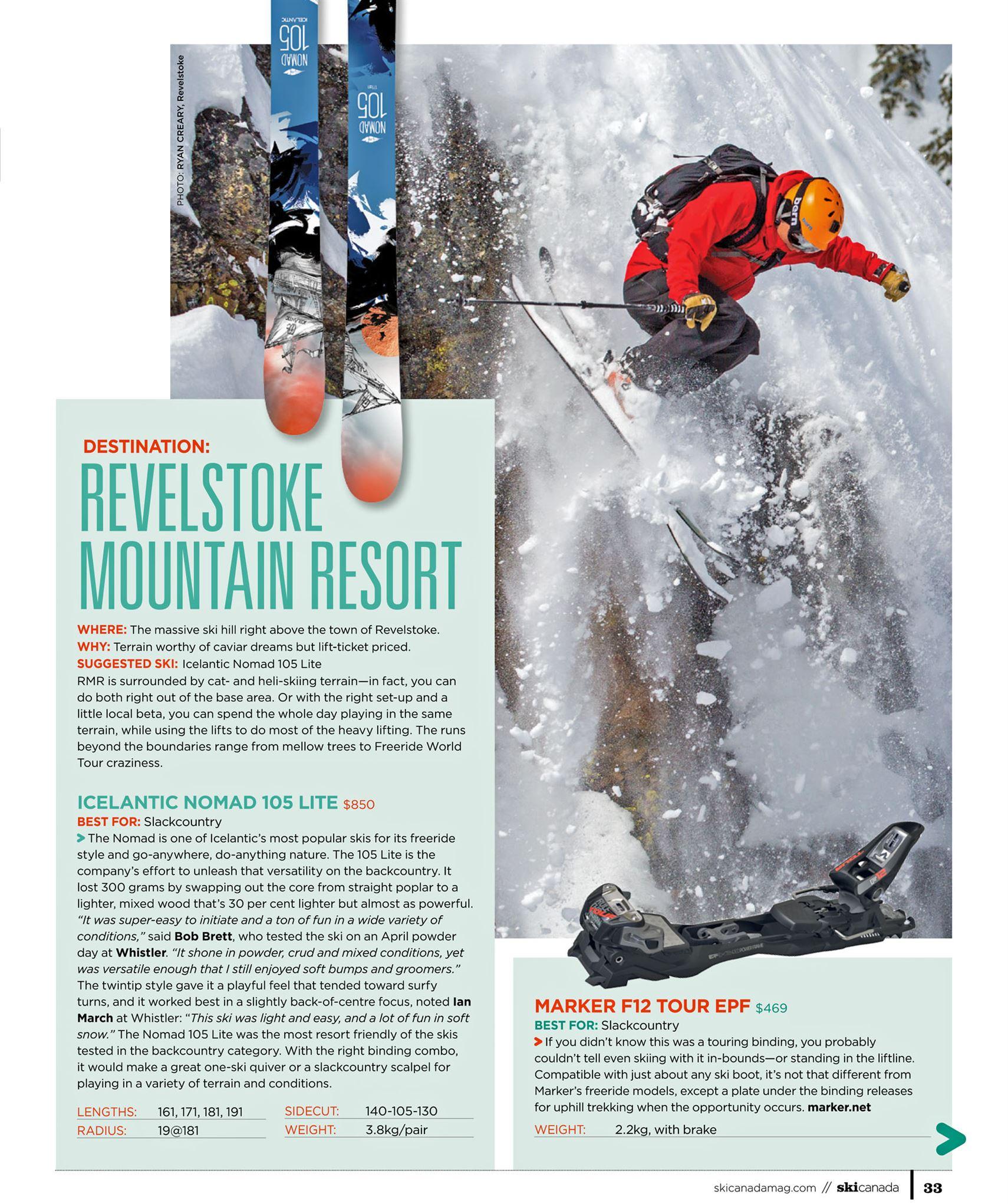Combo: Revelstoke Mt Resort & Icelantic Nomad 105 Lite