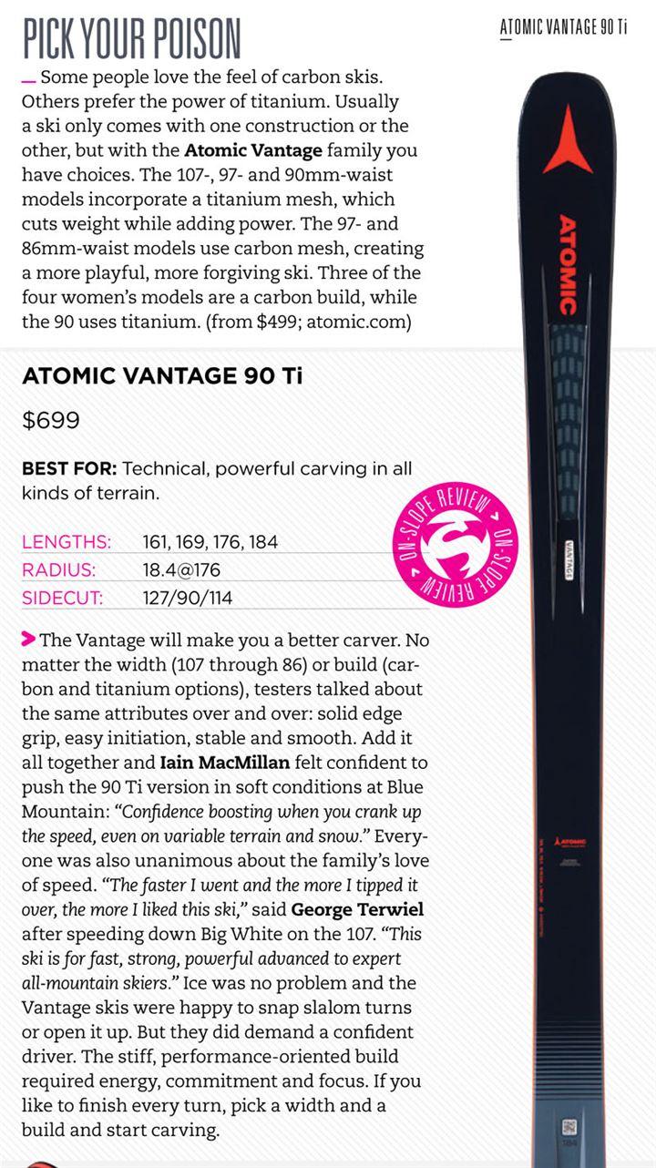 Atomic Vantage 90 Ti ⋆ Ski Canada Magazine 24f5e087f