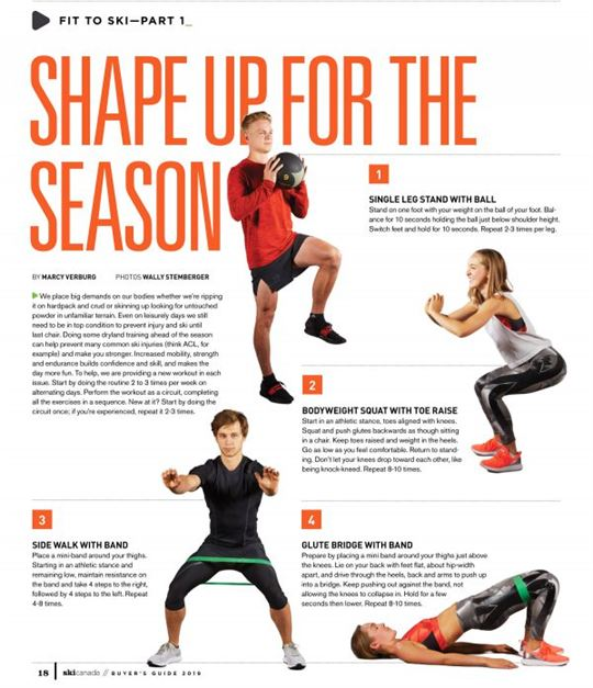 Shape Up for the Season - Fit to ski part 1/ Ski Canada Magazine