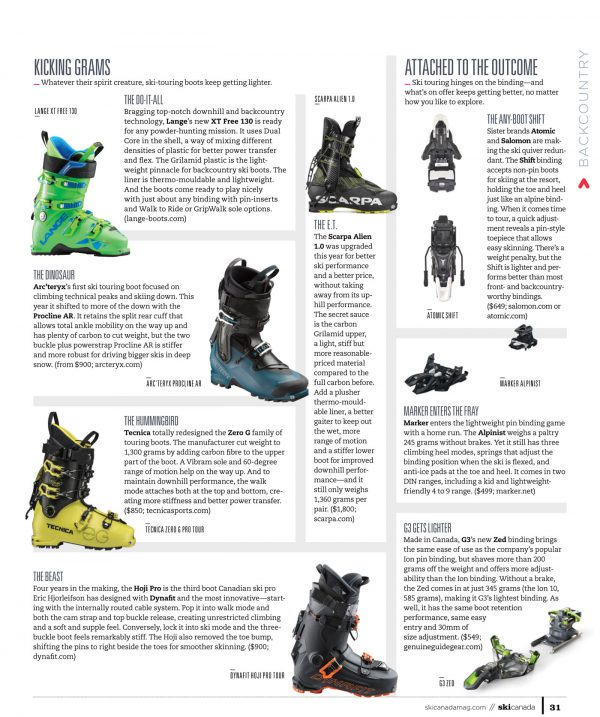 Backcountry Boots & Bindings